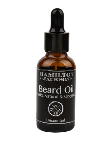 Unscented Beard Oil - With Argan Oil Hemp Seed 100% Natural