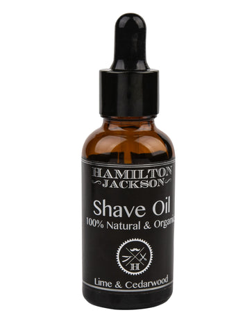 Shave Oil - Lime and Cedarwood 100% Natural