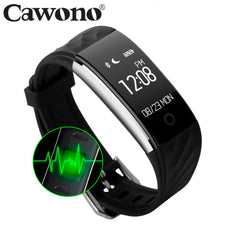 Cawono Bluetooth S2 Smart Band Fitness Tracker Heart Rate Monitor Armband IP67 Wasserdichte Smartband Armband für IOS Androids