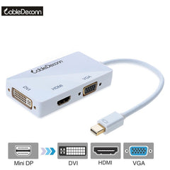 Thunderbolt 2 hub Mini displayport auf HDMI VGA DVI Adapter Kabel Multiport 3in1 Adapter konverter für macbook Mac Book Air