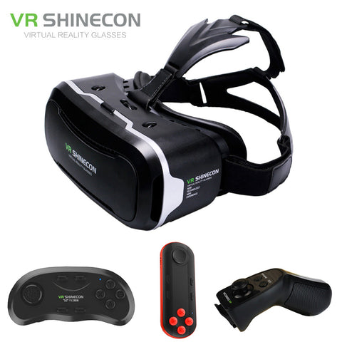 VR Shinecon 2,0 3D Brille Virtuelle Realität Smartphone Headset Google Karton VR Helm BOX für Iphone Android 4.7-6' Telefon