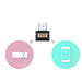 100% testet Mini Micro USB til USB-kontakt OTG-kabel USB OTG-adapter for USB-minnepinne for Tablet PC Samsung Android-telefon FFFAS