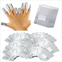100Pcs / lot Aluminium Folie Nail Art Soak Off Akryl Gel Nail Polish Fjerning Wraps Remover Makeup Tool Nail Carel
