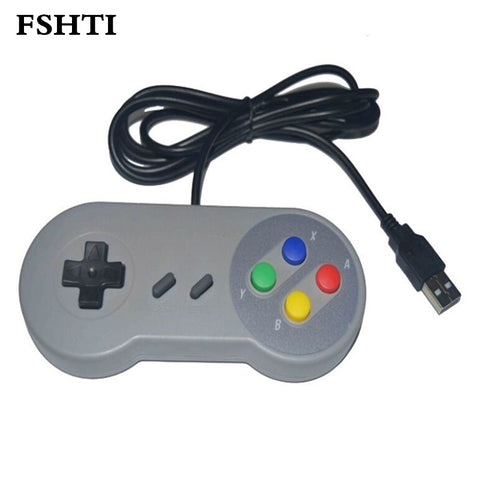 2PCS / LOT Retro Classic Snes USB Controller PC Controllers Gamepad Joystick Utskifting for Android Super for S NES Windows