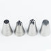 4 stk Kremtips Sett Stainless Steel Piping Dyse Icing Cream Cake Decoration Cupcake Pastry Tool