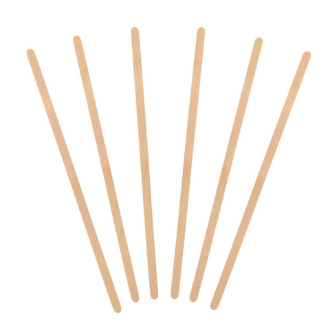 500 stykker Birch Wood Coffee Drikke Stirrers 5,5 tommers 7 tommer