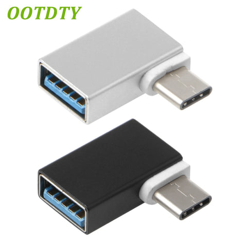 90 Degree Type C Til USB 3.0 Female Data OTG Converter Macbook Android Phone