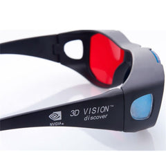 ANEWKODI Black Frame Red Blue 3D Glasses For Dimensional Anaglyph Movie Game DVD Universal 3D Plast Glasses Movie Game VideoTV
