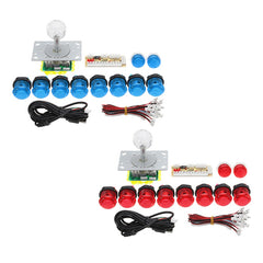 Arcade Joystick DIY Kit for Arcade Game PC USB Joystick Controller med 10 trykknapper + Encoder Board + Joystick null forsinkelse