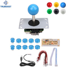 Arcade Joystick DIY Kits 4/8 Way 5Pin Kabel Joystick Fighting Stick Trykkknapper USB Board