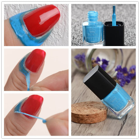BORN FUNKSJON Blå væske Tape & Peel Off Nail Art Latex 6 ml Cuticle Guard Palisade