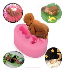 Baby Infant Silicone Cake Moulds Cake Decorating Jelly Mould Fondant Sjokolade Sugar Mould Håndlagde Såpformer Baking Tools