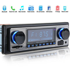 Bluetooth Vintage Car Radio MP3-spiller Stereo USB AUX Classic Bil Stereolyd