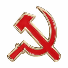 CCCP USSR Sovjet Sickle Hammer og Red Star Pin