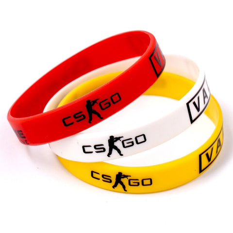 CSGO Counter Strike Braclet Rød Gul White Cross Fire Braslet For Male Game Play CS GO Silikon Gummi Diabetes Armbånd