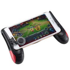 F1 Gamepad Black + Red Game Controller Telefon Analog Joystick Grip for alle Android og iOS SmartPhone Play PUBG-lignende, FPS-spill
