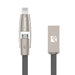 2 i 1 USB-lader til iPhone eller Samsung