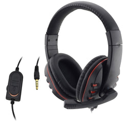Wired 3,5 mm gaming headset hodetelefoner hodetelefoner musikk mikrofon til PS4 spiel pc chatting fone de ouvido