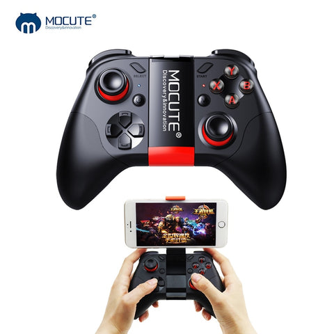 Mocute 054 Bluetooth Gamepad Crystal Button Android Joystick PC Trådløs fjernkontroll spillpute for Smartphone for VR TV BOX MOCUTE