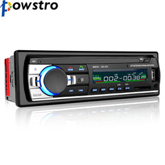 Powstro Bluetooth Stereo Audio In-Dash FM MP3-radio spiller med AUX-IN SD USB DC 12V MP3 MMC WMA FOR Bilradio Player