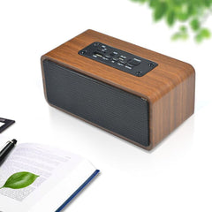 Retro Wood Super Bass Trådløs Mini Bluetooth Høyttaler Bærbar Subwoofer Bluetooth Lyd System Stereo Music Surround Speaker