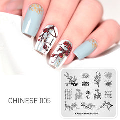 Rolabling 1 PC Elegant Blomst Nail Art Stamp Template Tegn Mønster Image Plate Stamping Plates Stencil For Stamping