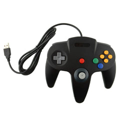 USB Game Wired Controller Joypad Joystick Gamepad Gaming til Nintendo Gamecube for N64 64 Stil for Mac Black