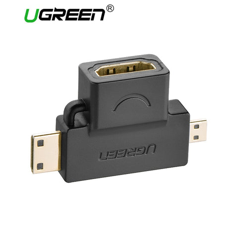3 i 1 HDMI Mann til HDMI Mann til HDMI Kvinne Converter adapter for nettbrett PC-tv-mobiltelefon HDMI-adapter Ugreen