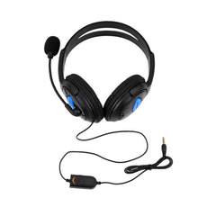 Wired Gaming Headset Hodetelefoner med Mikrofon Mic Stereo Supper Bass for PlayStation 4 Gamers for Sony PS4