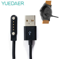 YUEDAER Universal Smart Watch Lader til KW88 KW18 GT88 G3 Smartwatch USB Strømlader Kabel 4 Pin Magnetic Laderkabler