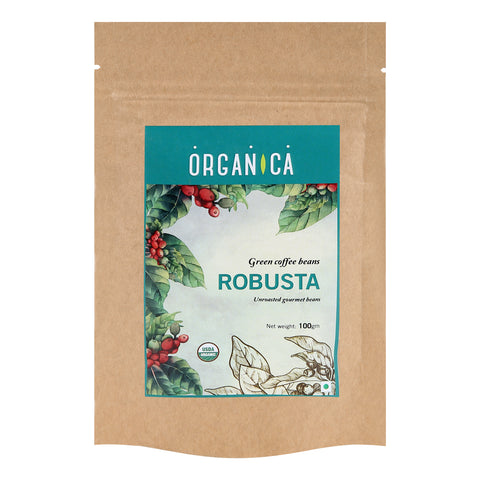ROBUSTA GREEN COFFEE BEANS (Pouch)