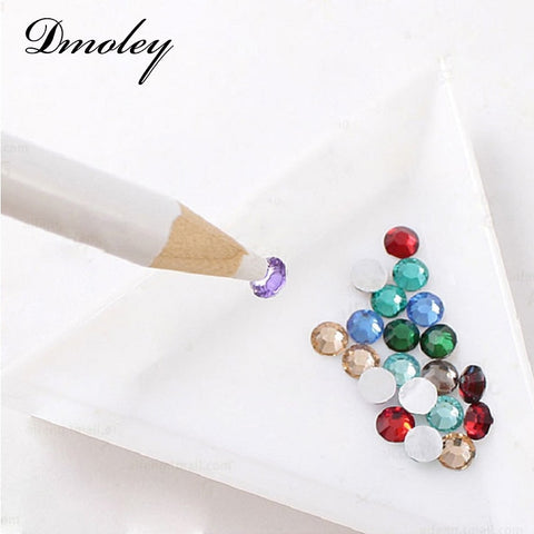 1 Piece Stones Picker Pencil nail art Gem Setter Pen Pick Up Tool Wax Crystal dmoley