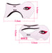 1 Set 2 i en Professional eyeliner mall Cat Eye Eyeshadow Eyeliner Stencil modeller Smoky Eyeliner Guide Quick verktyget nanda