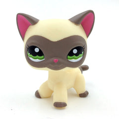 # 1116 Cream Grey Masked Short Hair Cat Kitty Toy för Collection