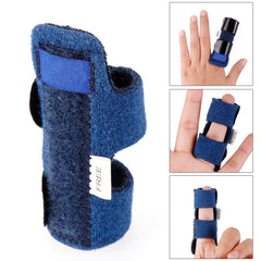 1-sticks smärtlindring Aluminium Finger Splint Fracture Protection Brace Corrector Support med Justerbar Band Bandage # 255335