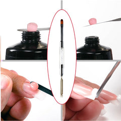 1pc Double Head Painting Gelborste Dual Side Nail Art Pen French Manicure Poly Gel Spatel Professional Polygel Application Tool