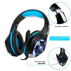 3,5 mm Gaming hörlurar Hörlurar Gaming Headset Hörlurar Xbox One Headset med mikrofon för pc playstation 4 bärbara telefon