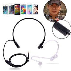 3,5mm Throat Mic Headphone Covert Acoustic Tube Throat Hörlurar Headset för iPhone HTC LG Android Universal Mobiltelefon