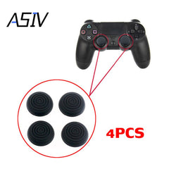 4stk Silikon Analog Controller Thumb Stick Grips Cap Knappar Hölje för Sony Play Station4 PS4 Black Spiral Thumb Sticks ASIV