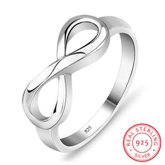 925 Sterling Silver Infinity Ring Eternity Ring Charms Bästa Vän Endless Love Symbol Fashion Rings For Women (Ri101995)