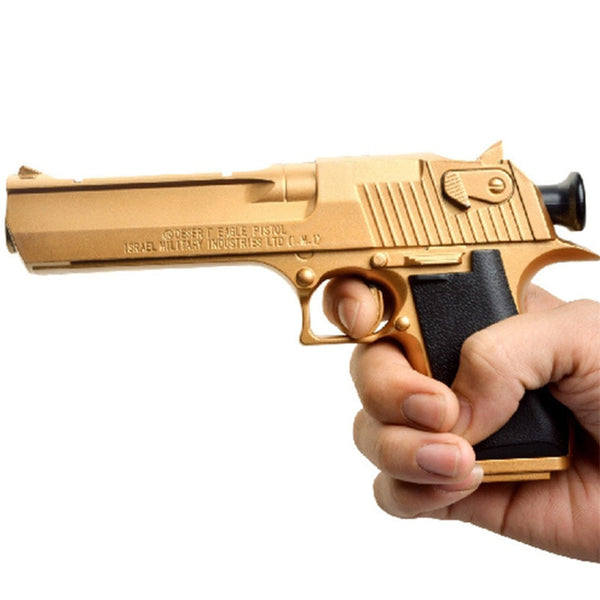 Gold Edition Toy Pistol Gun With Soft Bullets Outdoor Game Toy