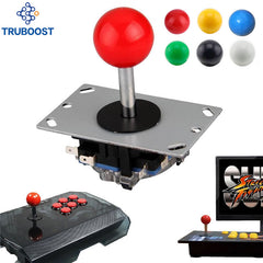 Arcade Joystick DIY Joystick Red Ball 4/8 Way Joystick Fighting Stick Delar för Spel Arcade