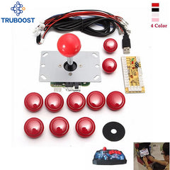 DIY Handtag Arcade Set Kit Byte Del USB Kabel Encoder Board PC Joystick Tryckknappar 4 Färger