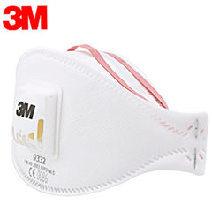 Äkta 3m 9332 Anti-dammskyddsmask Anti-dimma Haze Dammsäker FFP3-nivå Anti-PM2.5 Headband formel Exhalation Valve Mask