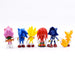 6st / set Sonic 7cm PVC Action Figur Modell Cartoon Sonic Toy Brinquedos Barn Födelsedagspresent