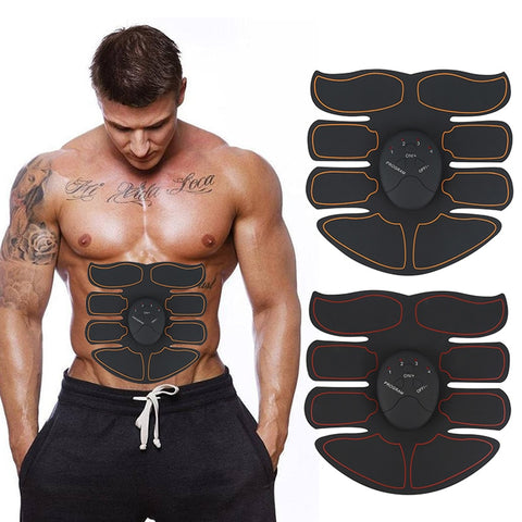 EMS Abdominal Muscle Exerciser Trainer Smart ABS Stimulator Fitness Gym ABS Klistermärke Pad Kroppslös Slimming Massager Unisex