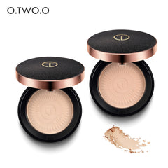 O. TWO. O Natural Make Up Face Pulverfundament Oljekontroll Ljust Concealer Whitening Tryckt Pulver Med Puff
