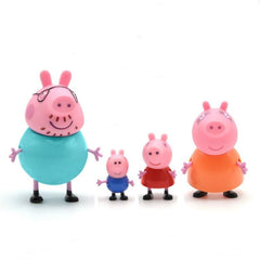 Peppa Pig Girl George Family 4 Piece Mamma och pappa Action Modell Doll Pelucia Anime Toy Barn Födelsedag Jul