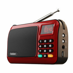 Rolton W405 Bärbar Mini FM Radio Högtalare Musikspelare TF Card USB För PC iPod Telefon Med LED Display