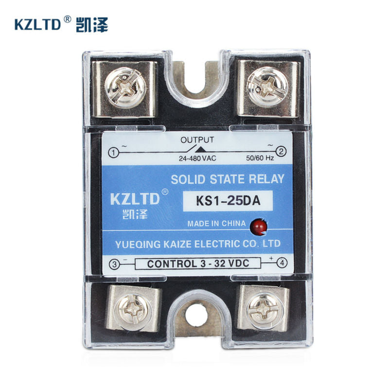 40A 3-32VDC to 24-480V AC Solid State Relay SSR Clear Cover